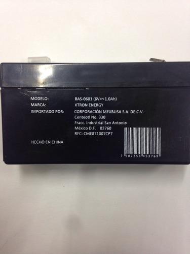 batería recargable 6v 1a