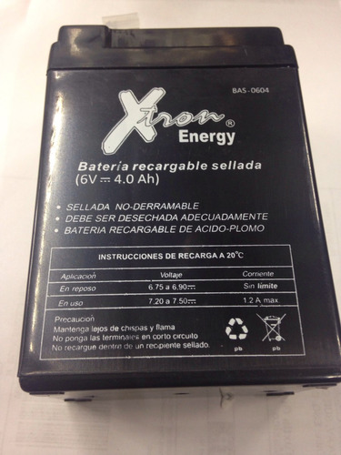 batería recargable 6v 4a