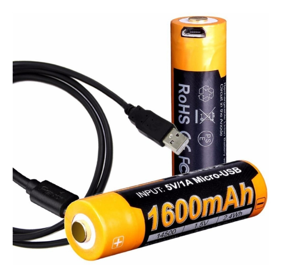 80f4509745d Bateria Recargable Aa Usb Fenix Arb-l14 1600mah 14500 1.5v - $ 700 ...