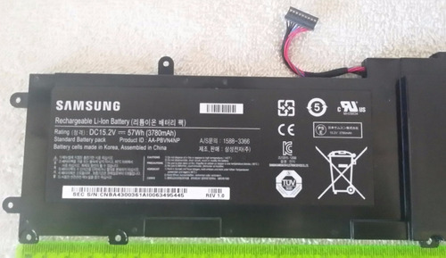 batería recargable de iones de litio 15.2v laptop samsung