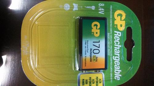 bateria recargable gp 9v 170 mah