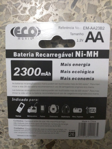 bateria recargable marca