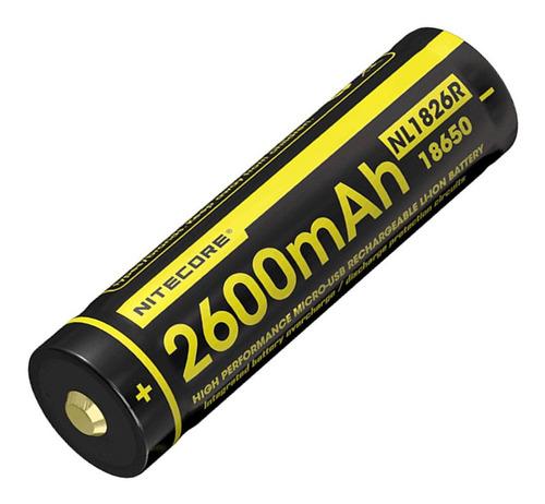 bateria recargable nitecore nl1826r li-ion 3.7v 2600mah usb