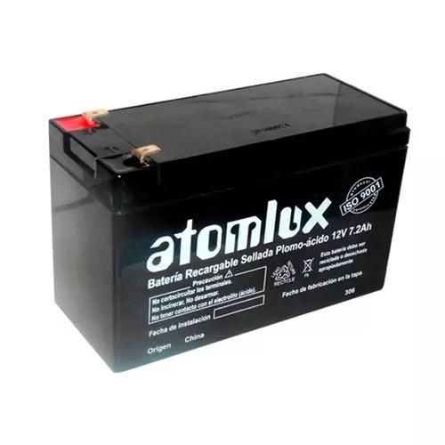 bateria recargable original atomlux 12v 7,2 ah ideal ups