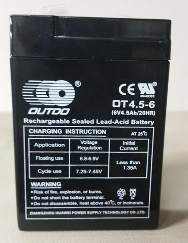 bateria recargable para lampara de emergencia 6 v / 4,5 ah