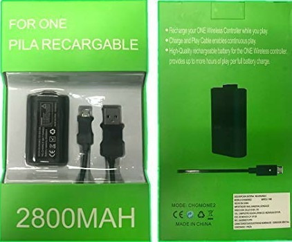 batería recargable y cable carga y juega xbox one