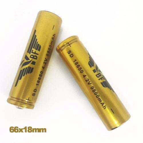 bateria recarregável 18650 6800mah 3.7v lanterna swat