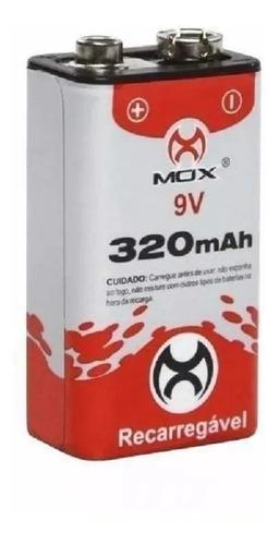 bateria recarregável 9v 320mah mox