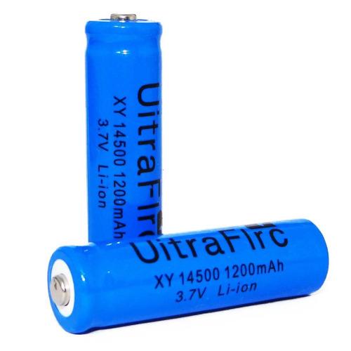 bateria recarregável li-ion 14500  3,7 / 4,2 v azul - unid