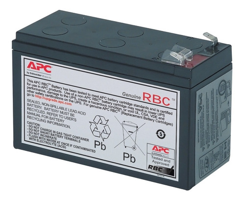 bateria reemplazo apc #17 para be750g, br700g, be650g-lm, be
