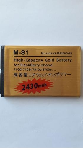 bateria reemplazo blackberry m-s1 bold9000 9700 9780 2430mah