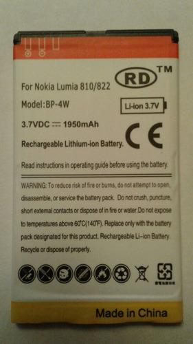 bateria reemplazo nokia bp-4w lumia 810 822  1950mah