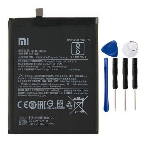 bateria reposição xiaomi mi a2 mia2 mi6x bn36 bn-36 original