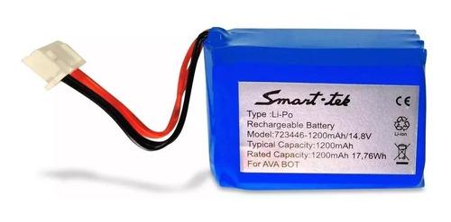 bateria repuesto ava bot aspiradora smart tek blanca