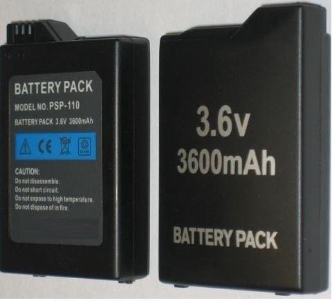 batería repuesto psp fat y slim 3.6v 3600 mah - te1057