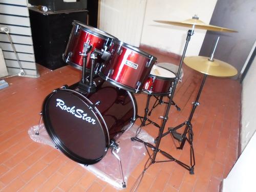 bateria rockstar rds-903 completa, incluye silla y platillos