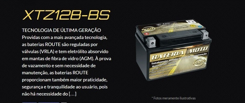 bateria route 12volts ytx9-bs cb500 - xt600 - shadow600