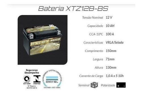 bateria route xtz14s yamaha midnight 950 / vmax / cb1100