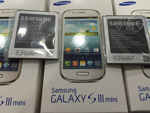 bateria s3 mini 100 % original samsung eb-f1m7flu 1500 mah