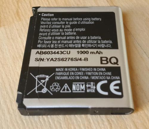 batería samsung ab603443cu original - samsung