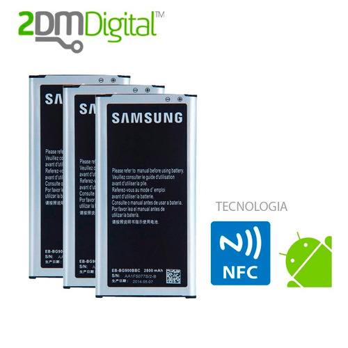 bateria samsung galaxy s5 original certificada nfc 2800mah