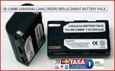 batería samsung sb-lsm80 sblsm80 vpd355 sc-d457
