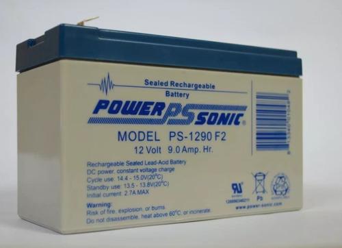 bateria sellada 12v 9ah marca powersonic - ups - alarmas -