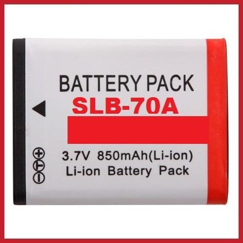 bateria slb-70a para samsung pl80 pl100 e65 es70 sl50 sl600
