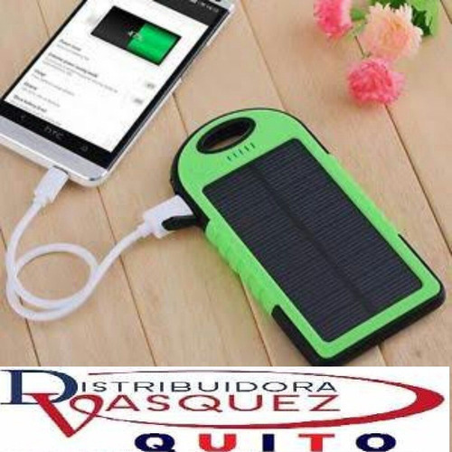 bateria solar 5000 mha power bank impermeable aventura