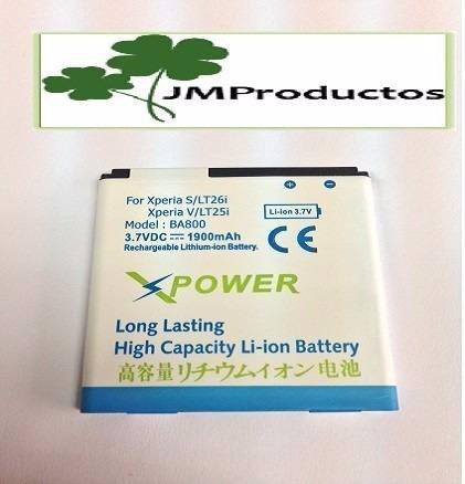 bateria sony ericsson ba800 xperia s lt26i, 1.900mah, super