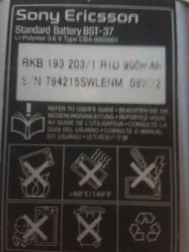 bateria sony ericsson bst-37 usada
