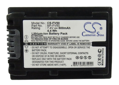 bateria sony np-fv50 dcr-hc16e / dcrhc16e / hc16e