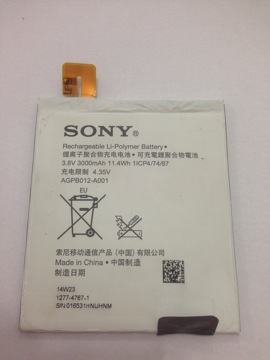 Bateria Sony Xperia T2 Ultra 14w23 Original Testada Nova R 1899 Baterai Agpb012 A001 Carregando Zoom