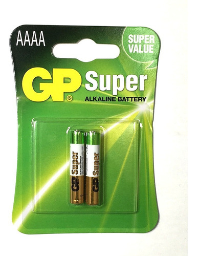 bateria super alcalina gp pilha lr8d425 aaaa 1.5v 2 peças