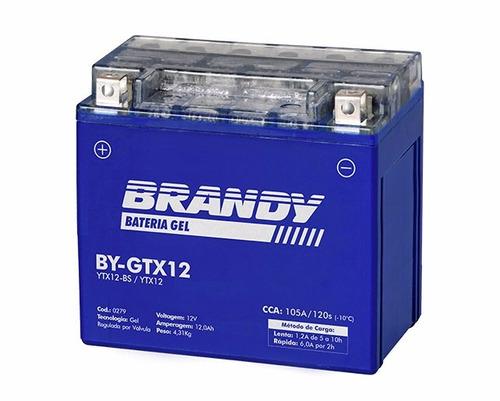 bateria suzuki gsf 1200s bandit gel brandy by-gtx12 + rep