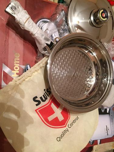 batería swiss home 17 pcs. acero quirúrgico t-304 de 9 capas