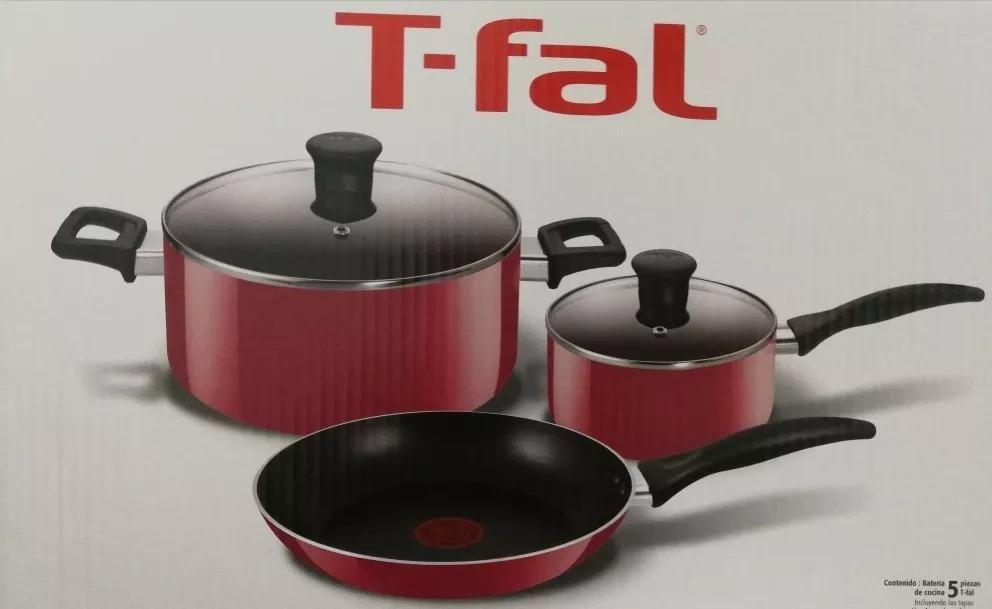 Bateria T-fal 5pz Family Cook rojo