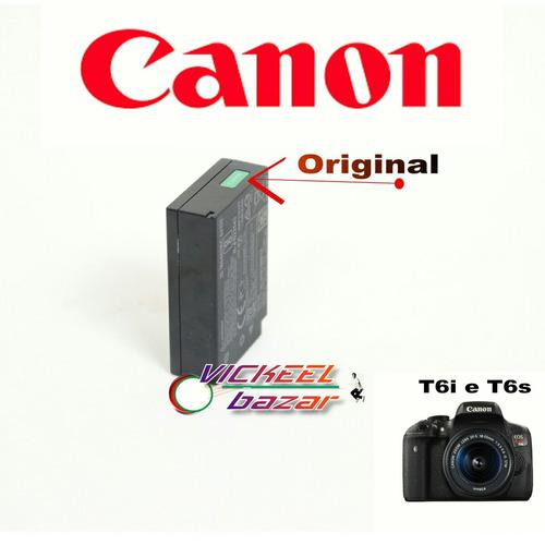 bateria t6i, t7i, t6s original canon - pronta entrega