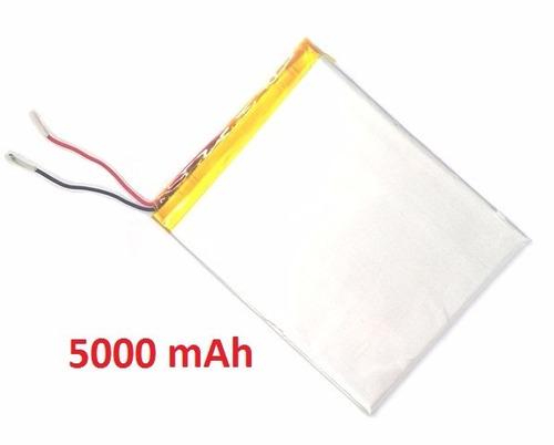 bateria tablet power pack powerpack 7210 5000 mah + duração