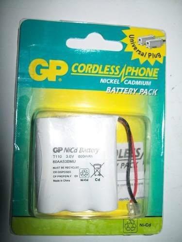 bateria telefono inalambrico gp t110  600 mah 3.6 v