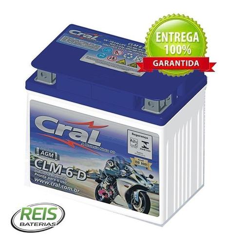 bateria titan150 fan125 fan150 fan160 cargo125 cargo150 cg125 cg150 cg160 cral moto 6ah clm6d (igual ytz7s htz6l ma5-d)