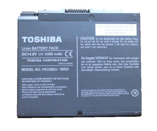 bateria toshiba pa3366u-1brs satellite 2430 a30 a35 4300mah