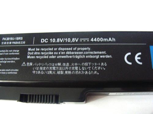 bateria toshiba satellite pa3634u-1brs l515 c645 a665 c650