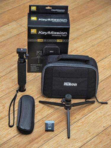 bateria tripode protector extensor nikon camara keymission