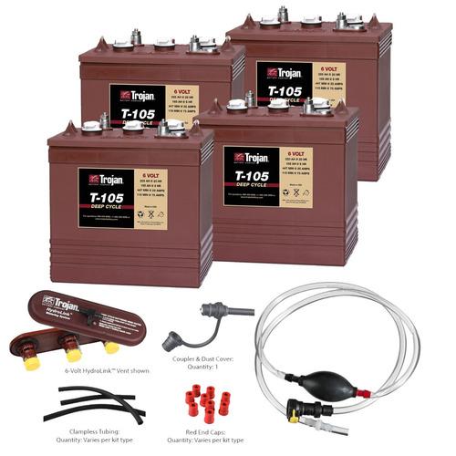 bateria troajn t105 6v + hidrolink - kit 4 piezas 24v 225ah