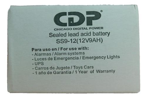 bateria ups 12 v 9 a cdp nueva sellada original b-12/9.0