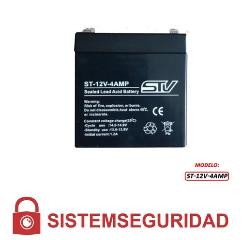 bateria ups 12v 4ah cámaras cctv alarmas incendio cercos