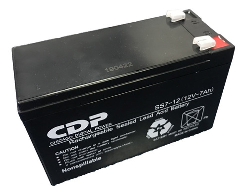bateria ups 12v 7ah 12 v 7 ah cdp nueva sellada  ss7-12/7