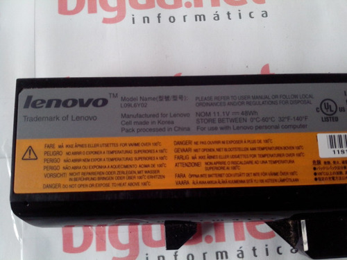 bateria usado notebook lenovo z460 series