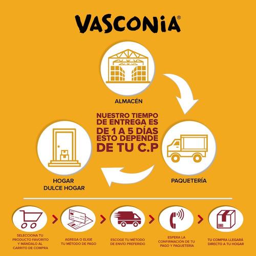batería vasconia elegance de 8pzas de vitroacero® color vino